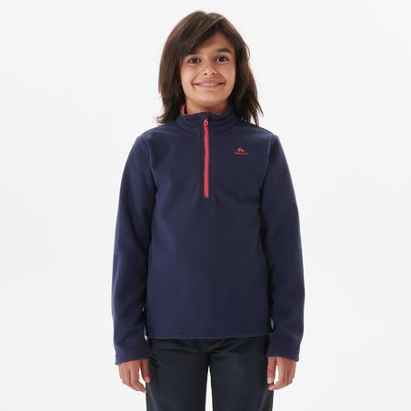 Kids' Hiking Fleece MH100 7-15 Years - Navy