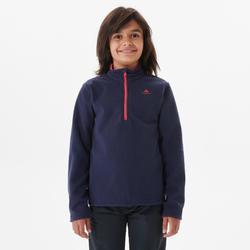 Wandelfleece voor kinderen MH100 marineblauw 7-15 jaar