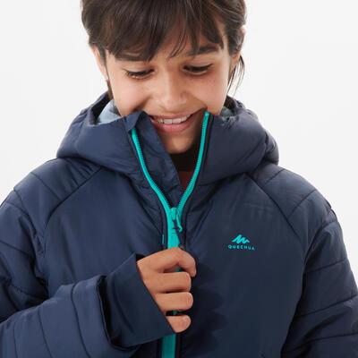 KIDS' PADDED HIKING JACKET 7-15 YEARS - HYBRID BLUE