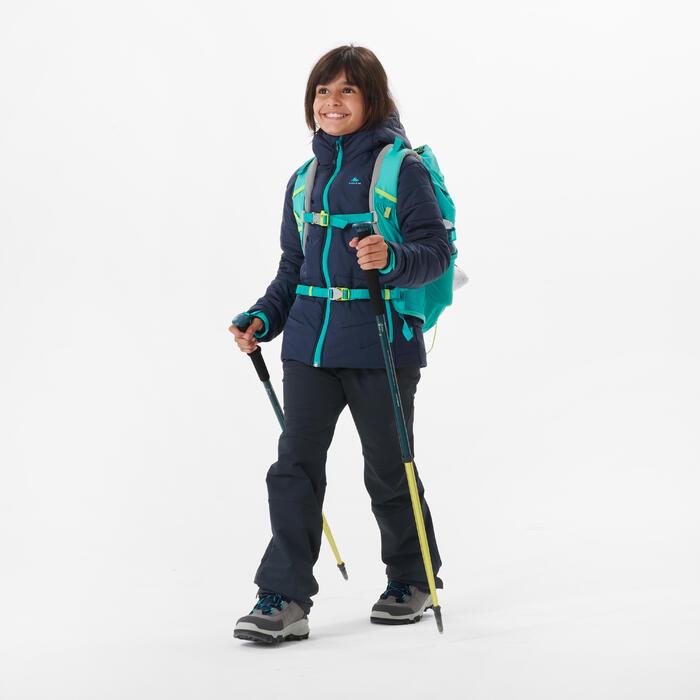 Gewatteerde wandeljas voor kinderen hybride blauw 7-15 jaar