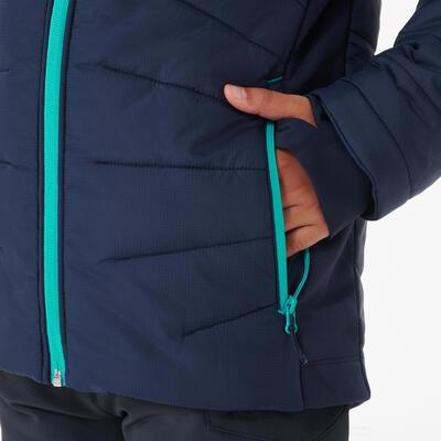מעיל לטיולים מרופד לגילאי 7עד 15 – כחול היברידי