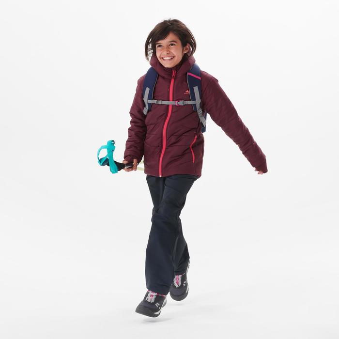 Gewatteerde wandeljas voor kinderen hybride bordeaux 7-15 jaar