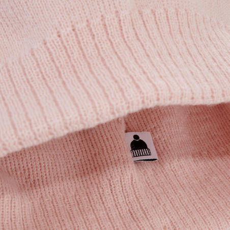 כובע סקי דגם Simple - ורוד בהיר