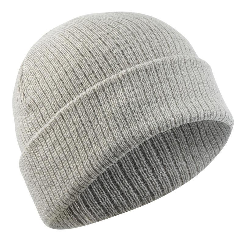 Adult Ski Hat Fisherman - Light Grey