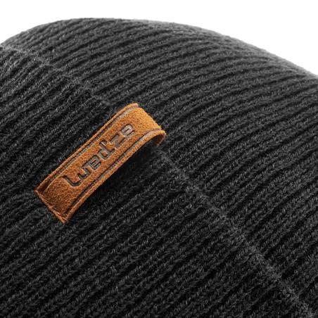 Adult Ski Hat Fisherman - Black