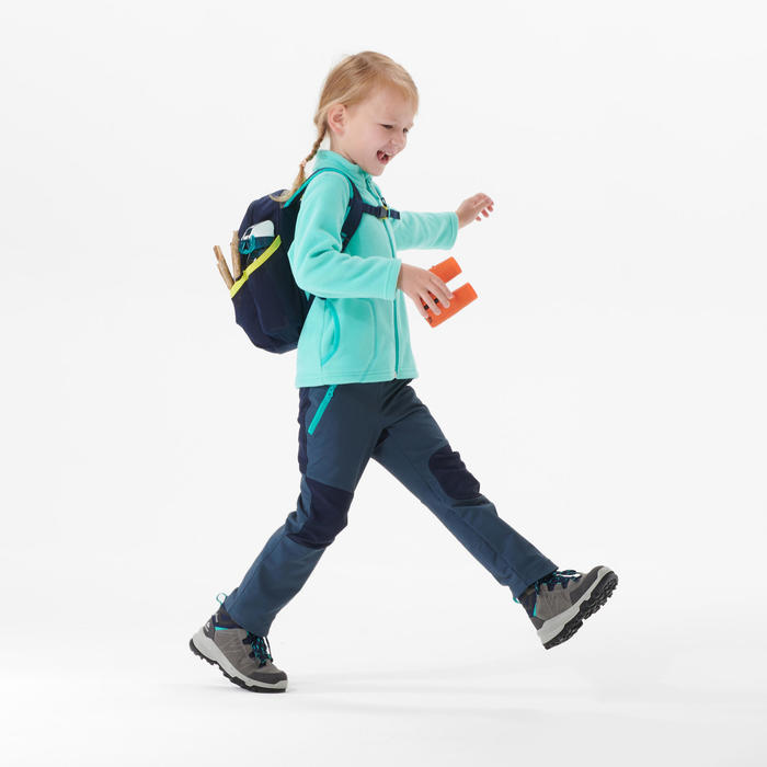 Veste polaire de randonnée - MH150 turquoise- enfant 2-6 ans