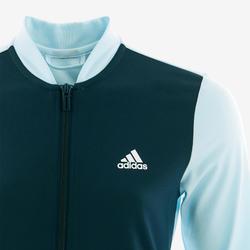 Trainingspak voor meisjes blauw met logo op de borst