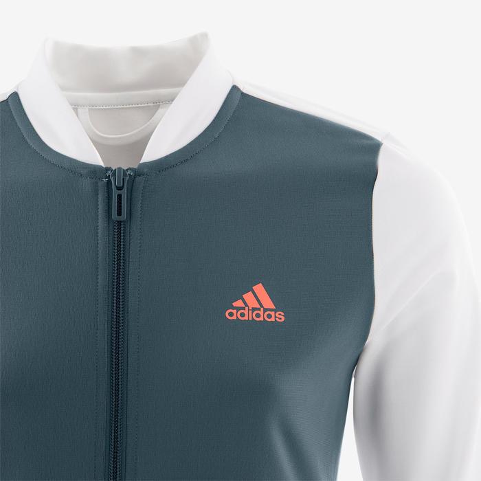 Trainingspak voor meisjes wit en blauw met logo op de borst