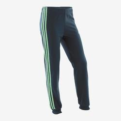 Survêtement fille vert et bleu logo sur la poitrine adidas
