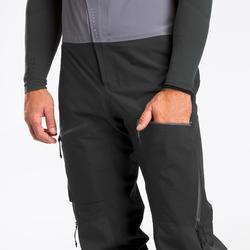 Pantalon salopette ski freeride homme PANT SKI FR900 GRIS FONCE