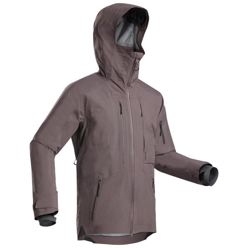 Giacca sci freeride uomo FR900 grigio viola