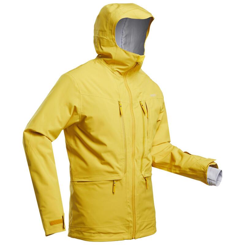 Ski-jas voor heren Freeride FR500 oker