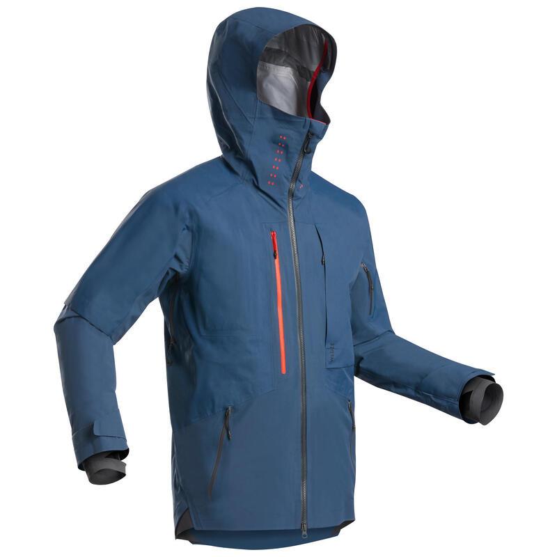 Men's Freeride Ski Jacket - Navy Blue