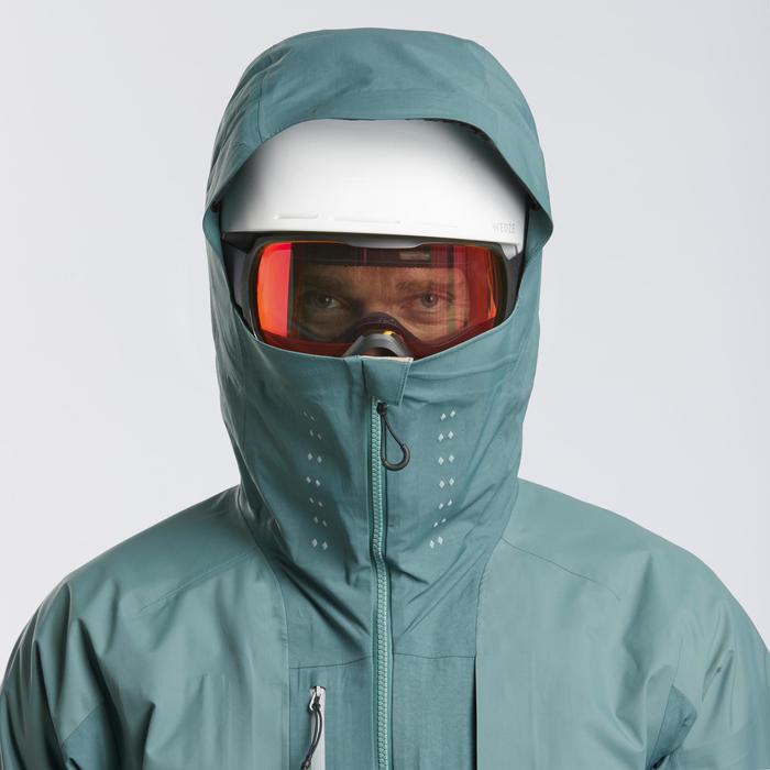 Veste de ski Freeride homme JKT SKI FR900 Kaki