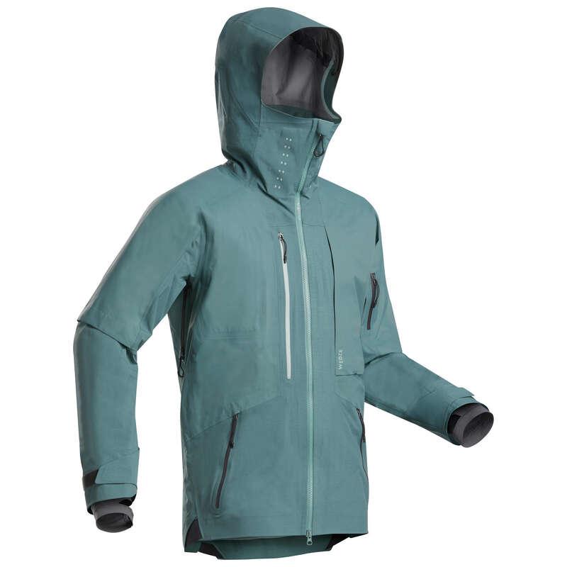PÁNSKÉ LYŽAŘSKÉ OBLEČENÍ NA FREERIDE Snowboarding - LYŽAŘSKÁ BUNDA FR900 KHAKI  WEDZE - Snowboardové oblečení a doplňky
