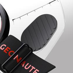定向越野左指指北針Racer 900-黑色