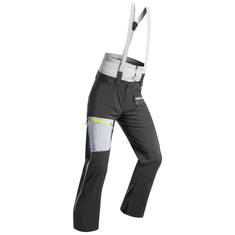 Pantalones de Esquí y Nieve Hombre Wedze Mountain Touring Travesía Gris
