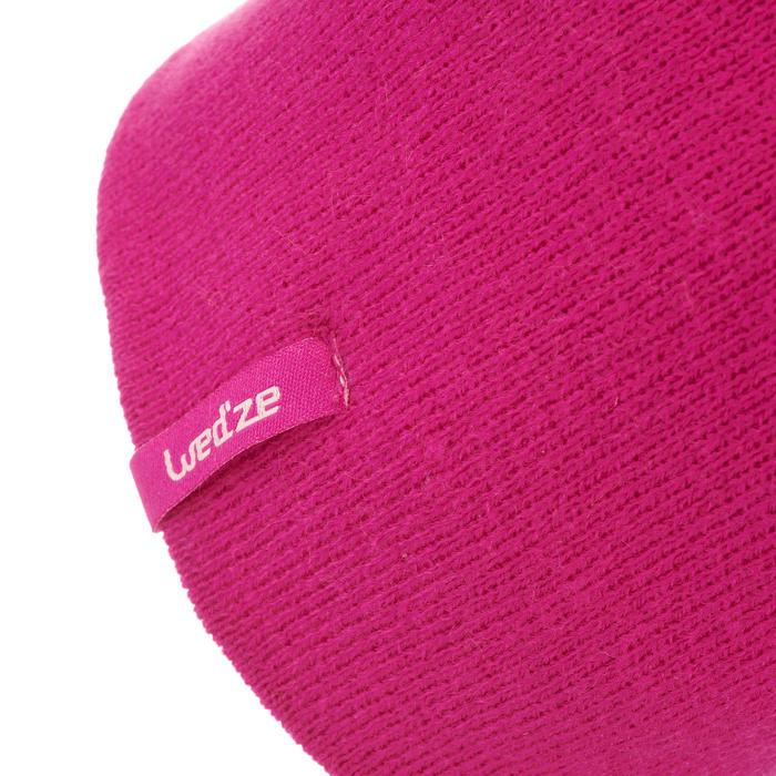 兒童雙面滑雪帽粉色/粉色