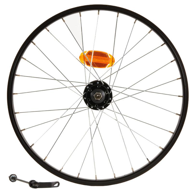 Roue vélo enfant 20 pouces avant disque attache rapide noir
