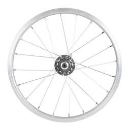 Achterwiel voor kinderfiets 16 inch met geïntegreerd freewheel 11 tanden zilver