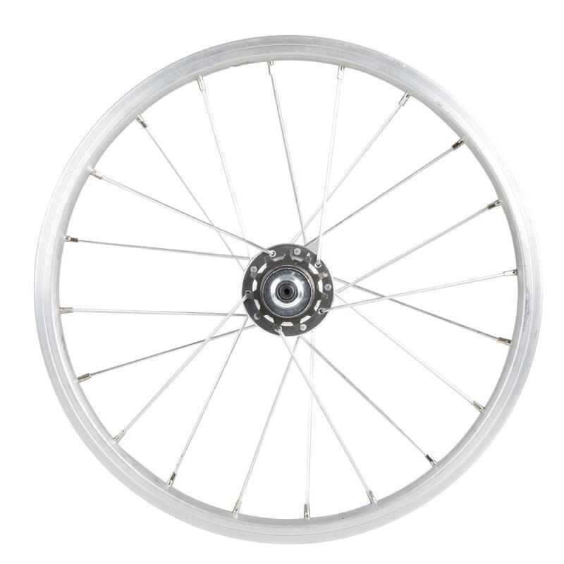 Roue vélo enfant 16 pouces arrière à roue libre intégré 11 dents argent