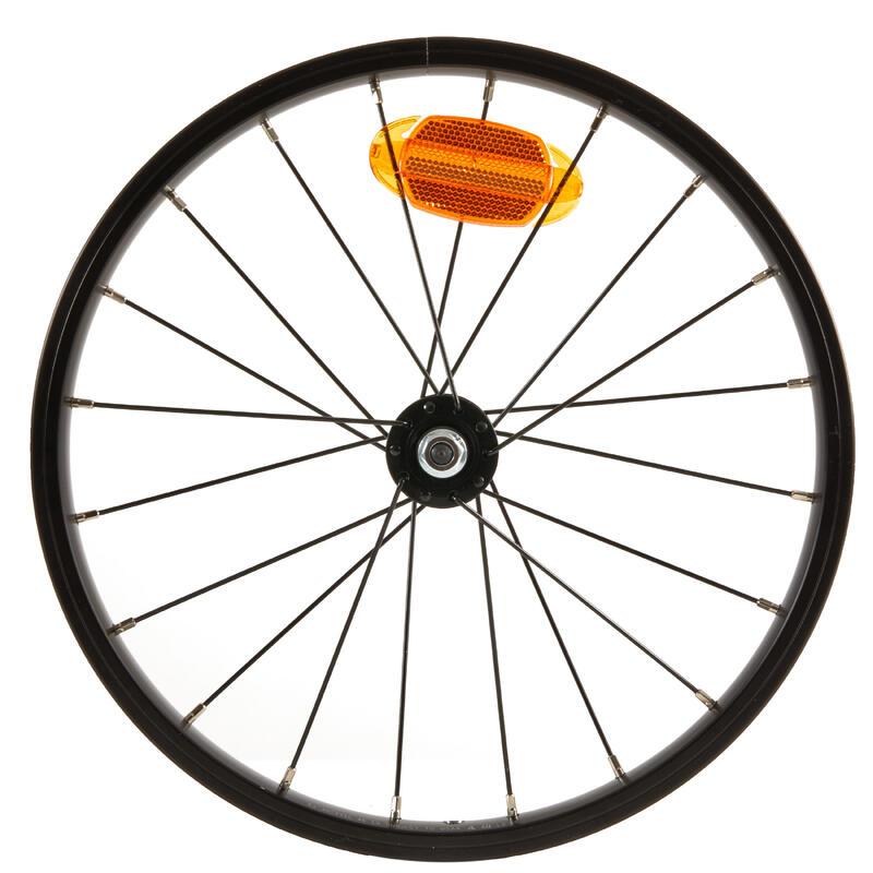 Roue vélo enfant 16 pouces avant noir rayon noir