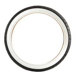 Buitenband voor kinderfiets draadband 16X1.75/ETRTO 47-305 zwart met witte flank