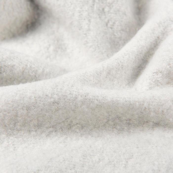 Girls' Gym Warm Brushed Jersey Bottoms 100 - Light Grey/Side Stripe