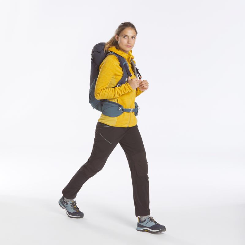 Veste polaire de randonnée montagne Femme MH900 Ocre