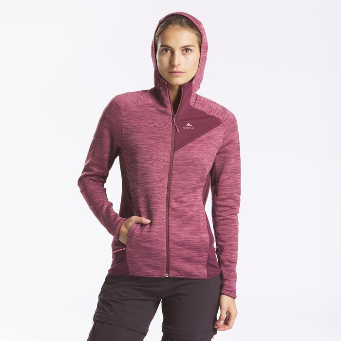 Veste polaire de randonnée montagne - MH900 - femme