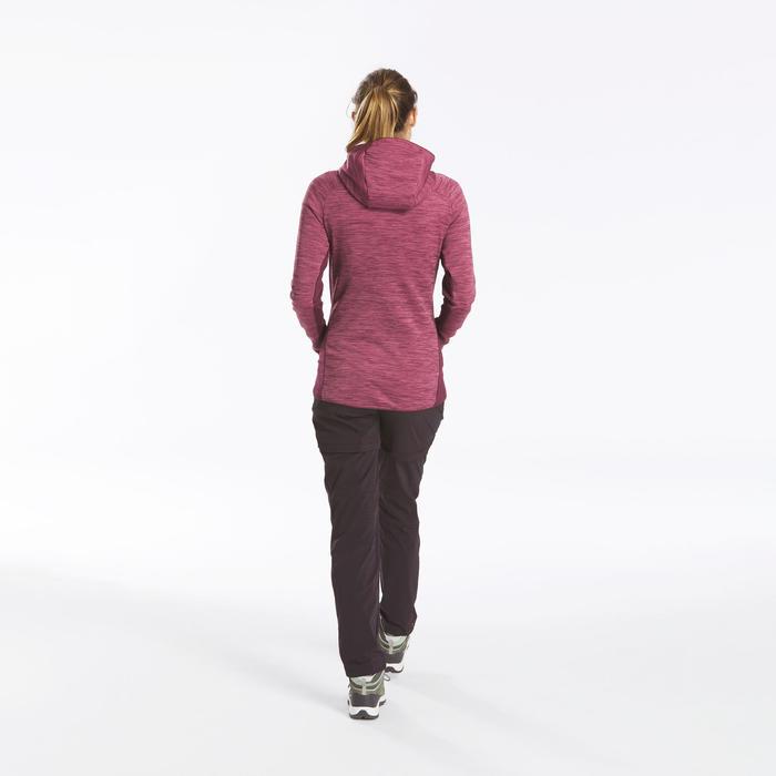 女款登山健行刷毛外套MH900-酒紅色