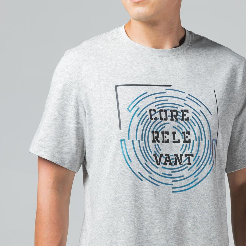 T-Shirt 500 Homme Bordeaux AOP