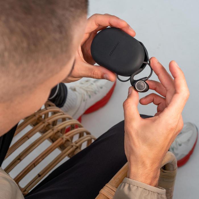 Kopfhörer kabellos Laufsport Kalenji 900 Bluetooth schwarz
