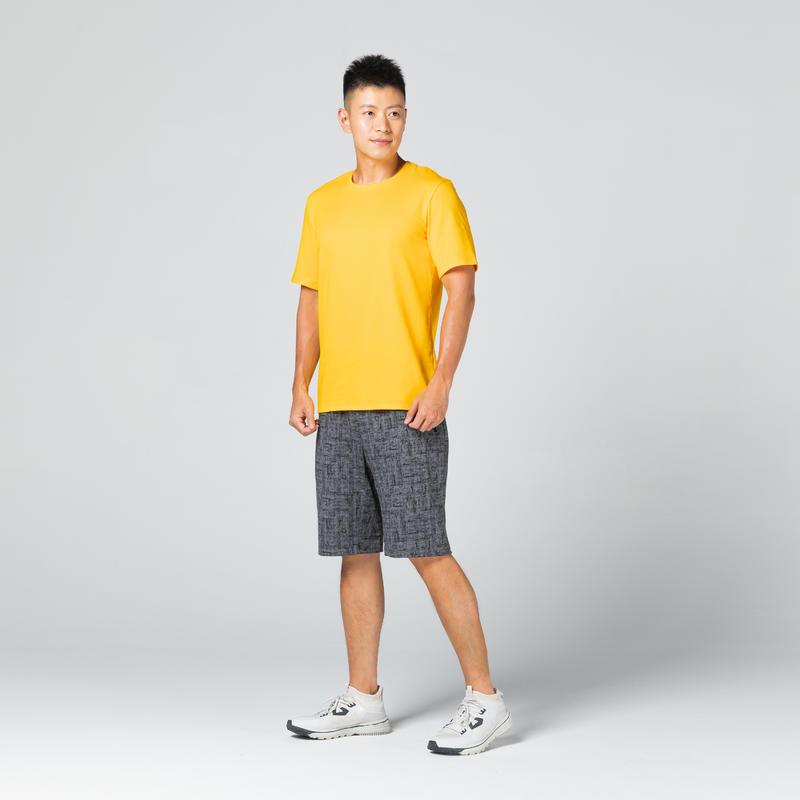 T-Shirt 500 Homme Jaune