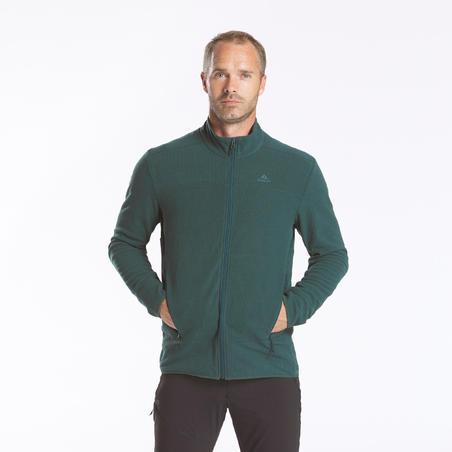Флісова кофта чоловіча MH500 для гірського туризму - Зелена