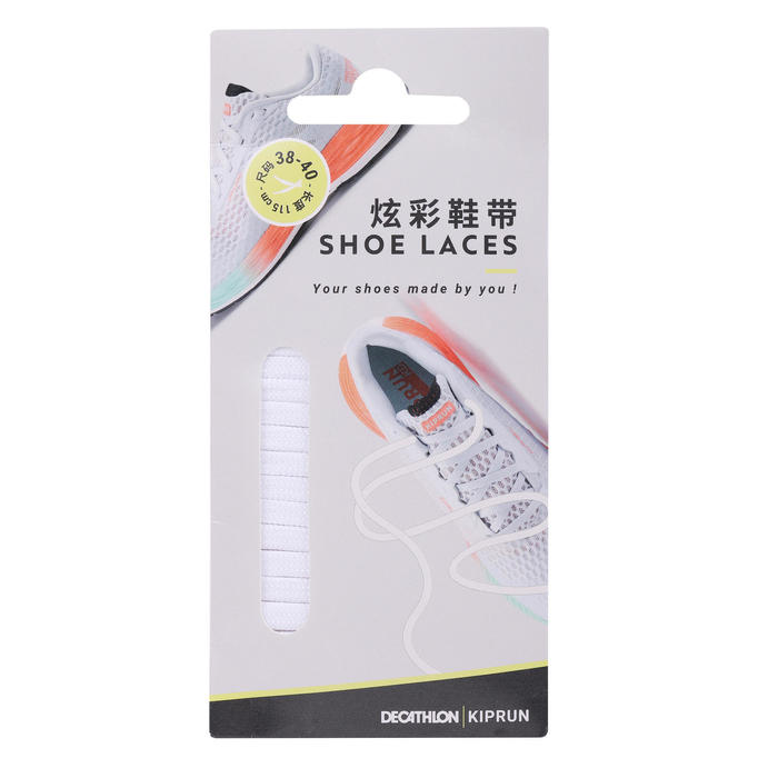 跑步鞋帶 - 白色