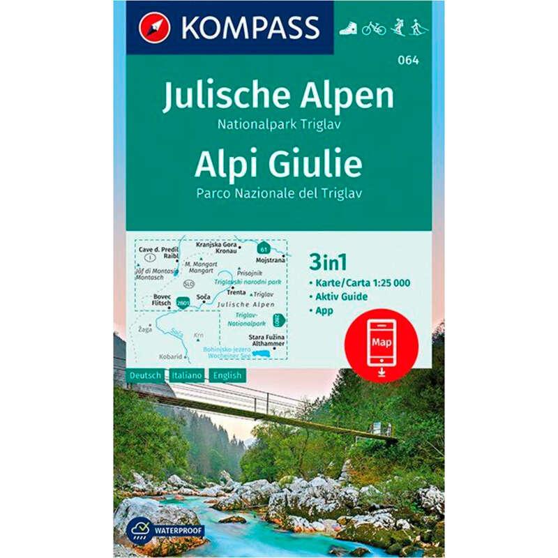 térképek Túrázás - Komp 064 Júliai-Alpok/Triglav CARTOGRAPHIA - Túra felszerelés