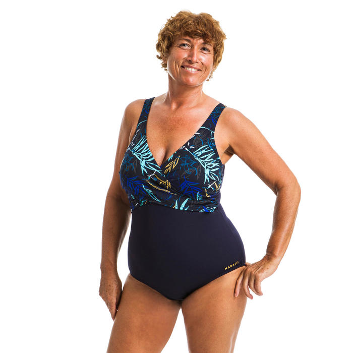 Corrigerend badpak voor aquagym Lori Yuka blauw
