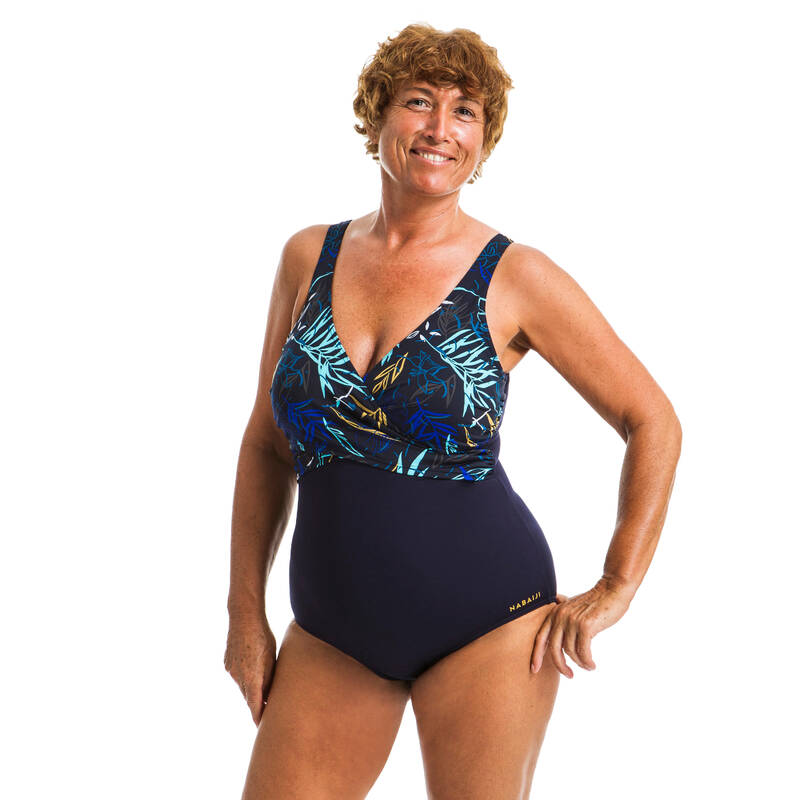 PLAVKY A VYBAVENÍ NA AQUAGYM, AQUABIKE Aqua aerobic, aqua fitness - DÁMSKÉ PLAVKY LORI YUKA MODRÉ NABAIJI - Aqua aerobic, aqua fitness