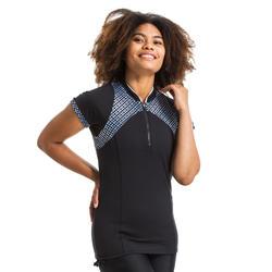 Shirt met korte mouwen voor aquagym en aquafitness dames Zia Bul zwart/grijs
