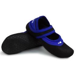 Calçado de Hidroginástica Aquaballerine Preto Azul