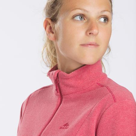"""Moteriškas kalnų žygių fliso džemperis """"MH100"""", rožinis"""
