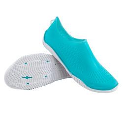 Waterschoenen voor aquagym aquabike aquafitness Fitshoe lichtblauw