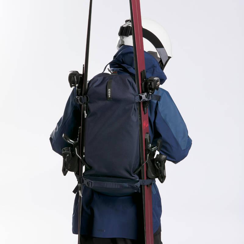 LYŽAŘSKÉ/SNOWBOARDOVÉ BATOHY Skialpinismus - BATOH FR100 DEFENSE MODRÝ  WEDZE - Bezpečnostní prvky a doplňky