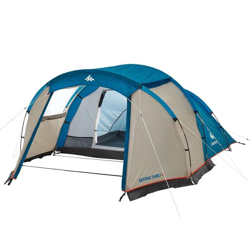 ПАЛАТКИ, ТЕНТИ ЗА ЛАГЕР ЗА РАВНИННИ ПРЕХОДИ Къмпингуване и бивак - Палатка ARPENAZ 4 QUECHUA - Палатки и заслони