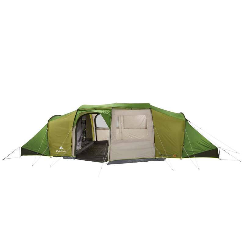 FAMILJETÄLT, BASLÄGER NATURVANDRING Camping - Tält Arpenaz 8.4 QUECHUA - Campingtält
