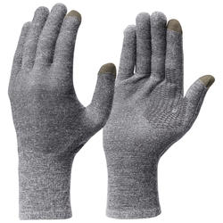Unisex Touch-screen Compatible Mountain Trekking Liner Gloves - TREK 500 - Grey