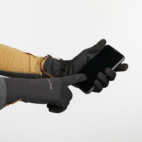 Adult Breathable Mountain Trekking Gloves - TREK 500 - Black