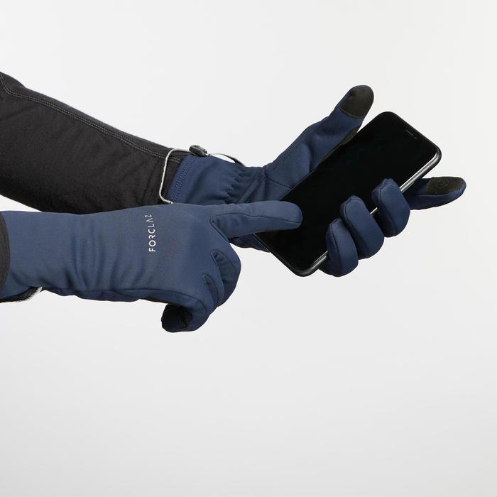 成人款登山健行透氣手套Trek 500-黑色