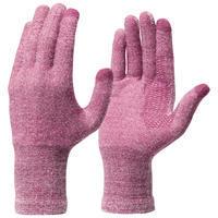 Sous-gants randonnée en montagne RANDO 500 violets